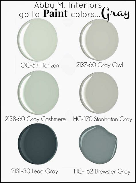 paint colors that go with gray abby m interiors my quot go to quot paint colors gray paint