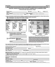 Physical Template For Students by Sle Physical Form 8 Documents In Pdf