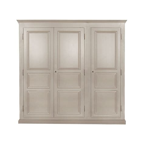 Armoire Taupe by Armoire Bois Massif Taupe 3 Portes 1 Penderie Made In