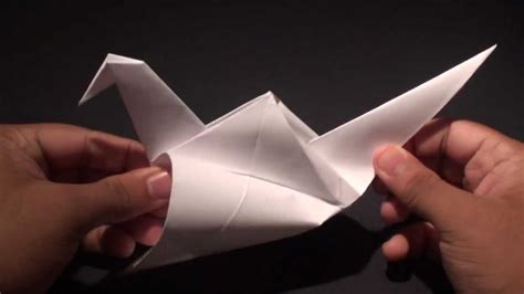 How To Make An Origami Crane That Flaps Its Wings - how to make a origami paper flapping crane bird