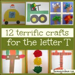 preschool crafts for letter t the measured