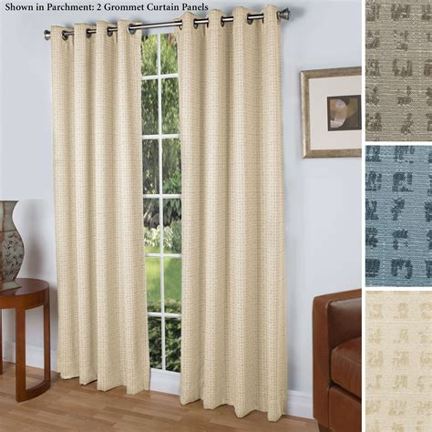 Spanish Steps Room Darkening Grommet Curtain Panels