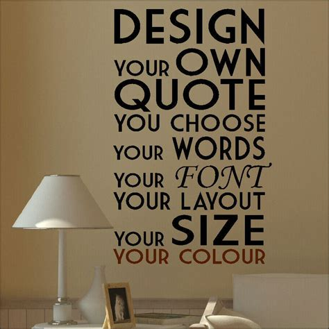 create your own wall stickers quotes large create your own custom wall quote design