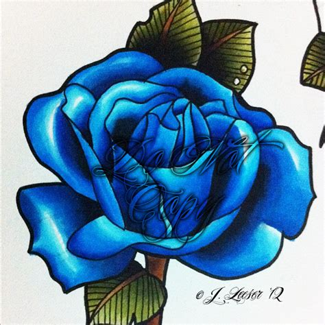 blue rose by phillyink on deviantart