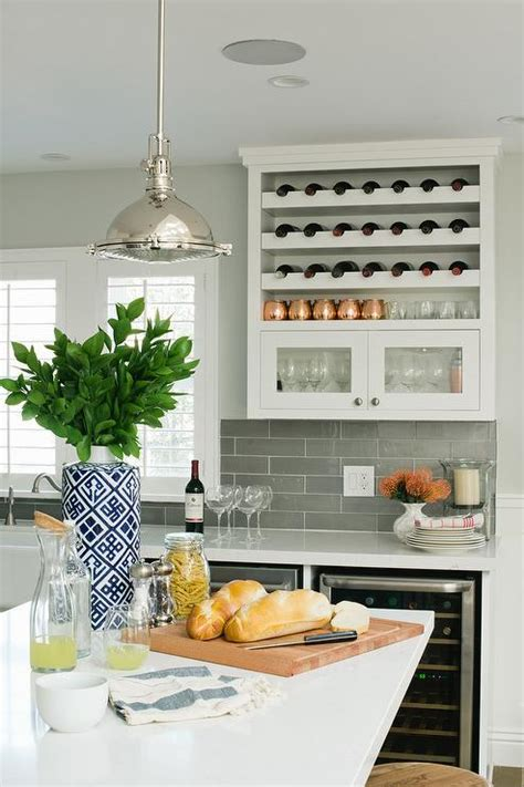 Kitchen Counter Wine Rack by Kitchen With The Counter Wine Rack Transitional
