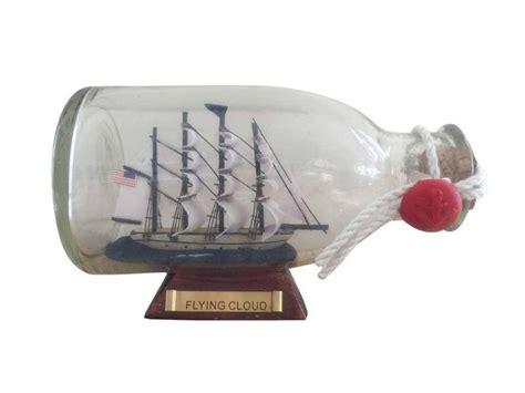 boat in a bottle buy flying cloud model ship in a glass bottle 5 inch