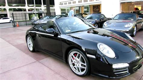 Porsche 911 Carrera 4s Convertible For Sale by 6 500 Mile 2010 Porsche 911 Carrera 4s Cabriolet Triple