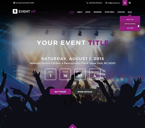 joomla event management template jf event up 2015 joomla templates