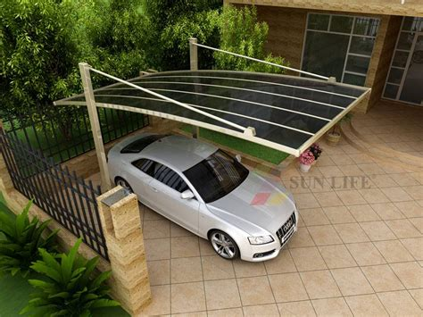 Outdoor Car Port outdoor polycarbonate carport guangzhou sun building material ltd