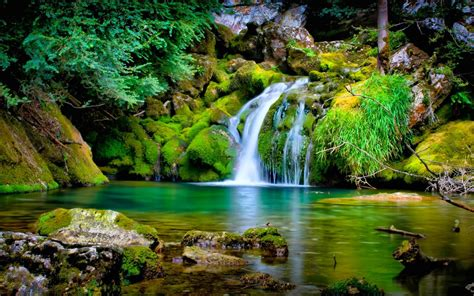 Happy Garden Fall River by 3d Achtergrond Met Waterval Hd Wallpapers