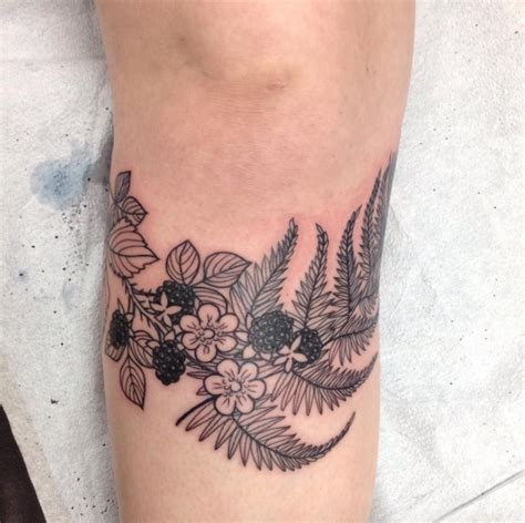bethesda tattoo blackberries fern done by tina pell bethesda