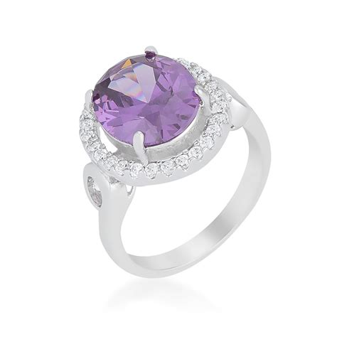 amethyst halo cocktail ring rings jewelry cheap wholesale