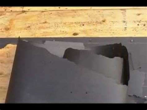 How To Make A Paper Roof - how to roofing removing tar paper without the mess