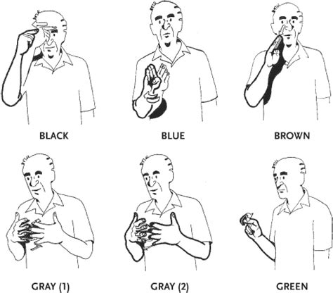 colors in american sign languages