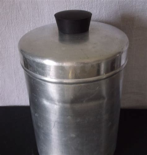 Retro Kitchen Canisters by Vintage Metal Kitchen Canisters Aluminum Flour Sugar