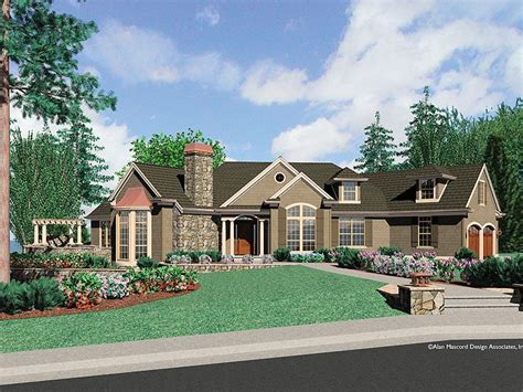 large one story homes plan 034h 0199 find unique house plans home plans and
