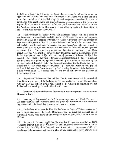 forbearance agreement template sle forbearance agreement for free page 2