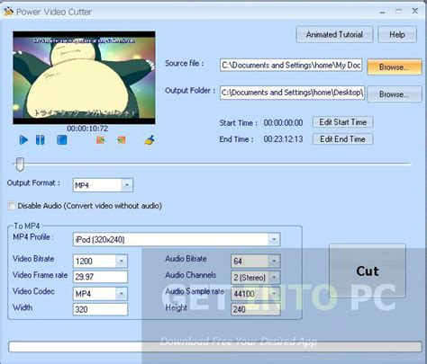 power mp3 cutter for pc download power video cutter free download getintopc