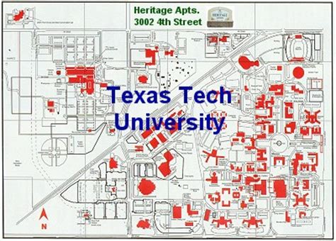texas tech parking map university locations texas tech university location