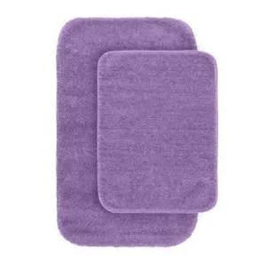 Purple Bathroom Rug Sets Garland Rug Traditional Purple 21 In X 34 In Washable Bathroom 2 Rug Set Dec 2pc 09