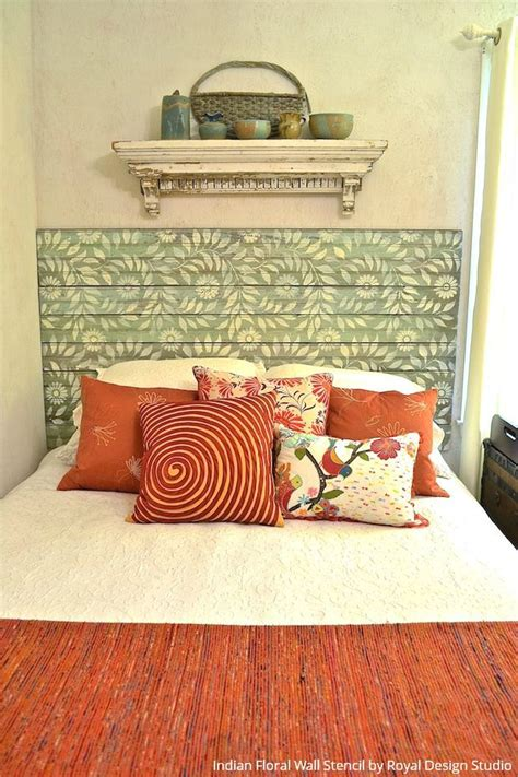 painted wood headboard ideas 472 best stenciled and painted furniture images on pinterest