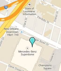 Mercedes Superdome Map Hotels Near Superdome Tulane New Orleans