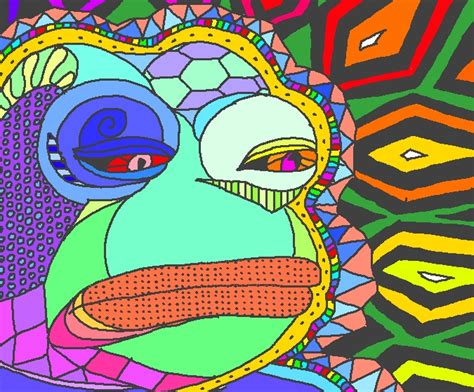 Psychedelic Meme - psychedelic pepe feels bad man sad frog know your meme