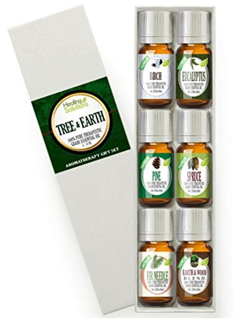 Healing Solutions Top 6 Blends Best Therapeutic Essential Set top 6 tree earth essential oils 100 best