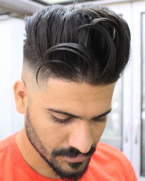 coupe de cheveux homme barbe pompadour haircuts