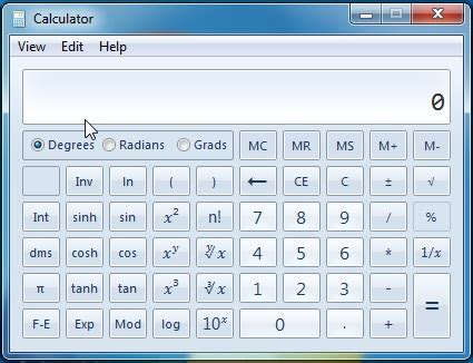 the calculator in windows 7 & windows 8 a tool for the