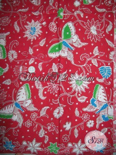 Bahan Untuk Seragam Bahan Batik Warna Merah Untuk Blus Seragam Batik Wanita