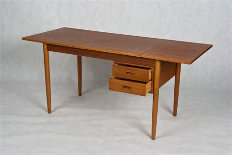 Glass Dining Room by Small Danish Vintage Desk Teak And Oak