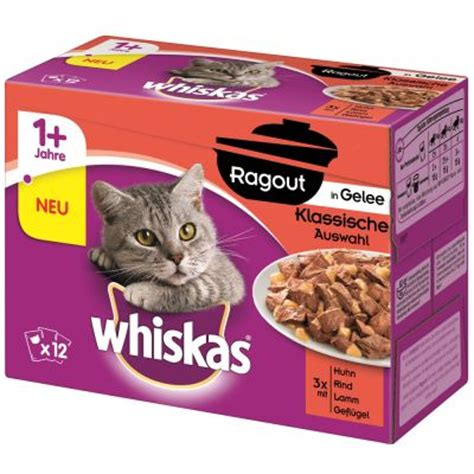 Whiskas 85 Gram whiskas kattenvoer portiezakje mp whiskas ragout 12 x 85 g kattenvoer