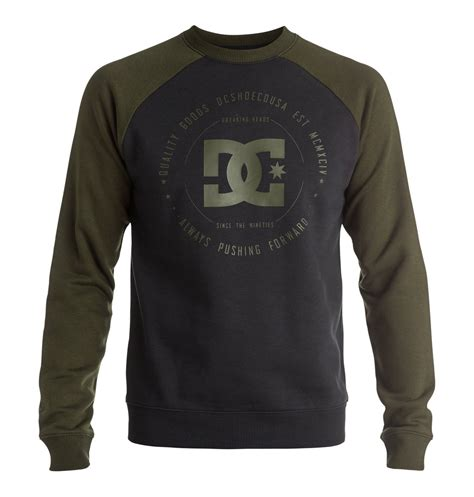 Rebuilt Dc Shoes by Rebuilt Raglan Sweatshirt Edysf03118 Dc Shoes