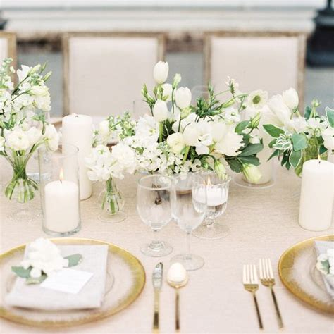 white and gold table picture of grey white and gold table setting with white
