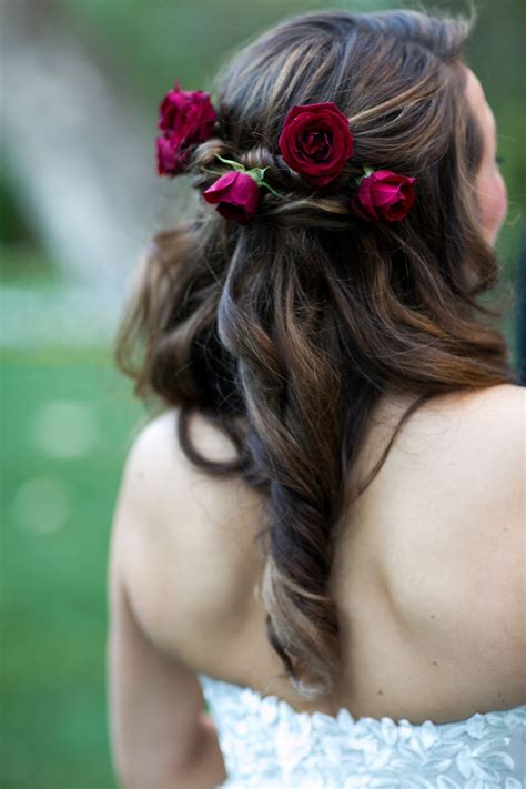 Wedding Hair And Curled by Photos With Curled Hair Roses Inside