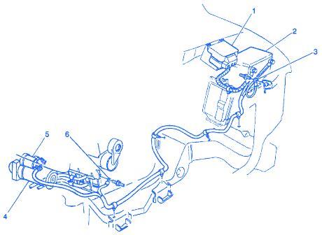 chevrolet astro van  underhood electrical circuit wiring diagram carfusebox