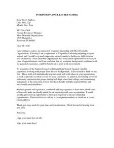 Cover Letter For An Internship by 29 Excellent Cover Letters For Internship Applications Vntask