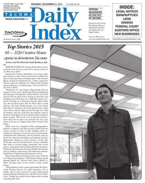 lowes tukwila wa tacoma daily index december 21 2015 by sound publishing
