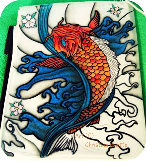 tattoo koi jepang koi fish drawings koi fish tattoo design wip by