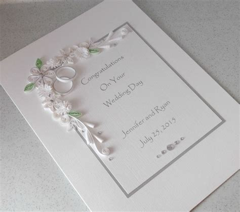 quilled wedding congratulations card by paperdaisycards on