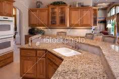 Kitchen with granite counters oak cabinets kitchen update with oak