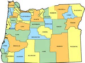 map of oregon with counties government information