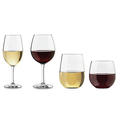 wine glasses dailyware wine glass collection bed bath beyond