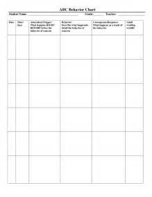Abc Behavior Chart Template by Behavior Chart Template Beepmunk