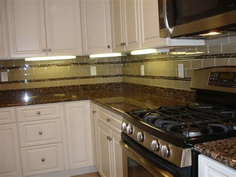 How To Do Glass Tile Backsplash by Brown Glass Subway Tile Backsplash Home Design Ideas
