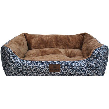 Stuft Bed by Stuft Lounger Pet Bed Large Blue Walmart