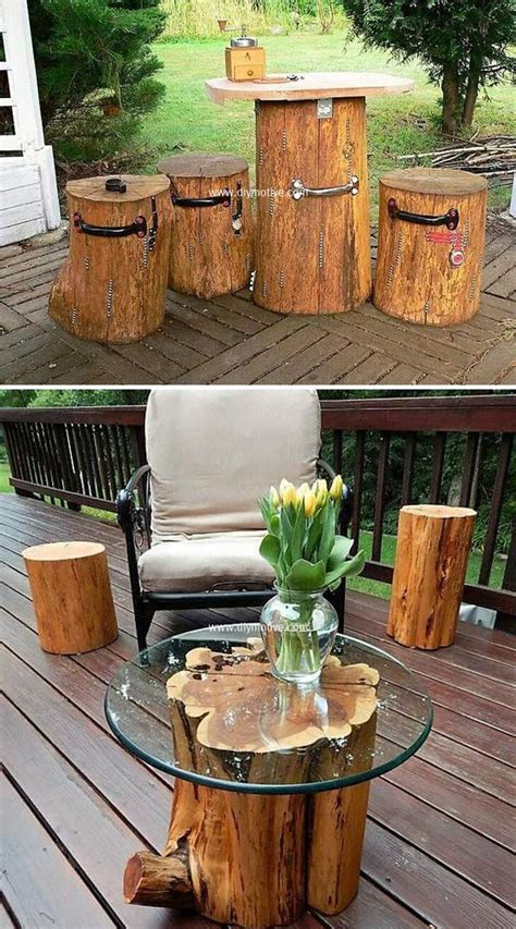 amazing diy tree log projects   garden amazing