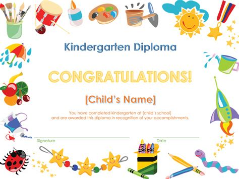 preschool graduation certificates templates graduation office