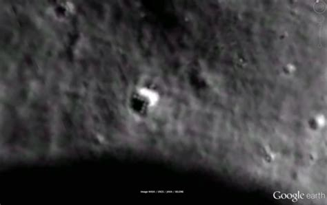imagenes google moon mysterious triangular objected spotted on google moon